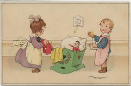 C P A   ILLUSTATEUR  BAUMGARTEN   ENFANTS  Jouants à La Poupée - Baumgarten, Tilly Von