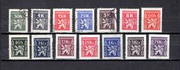 Checoslovaquia   1946-47  .-  Y&T  Nº    1/2-4/7-8/15     Servicio - Dienstmarken