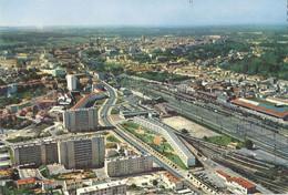CPSM Angoulême Vue Générale Aérienne La Gare Et Les Immeubles - Angouleme