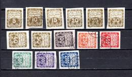 Checoslovaquia   1919-22  .-  Y&T  Nº    1/14     Taxa - Portomarken