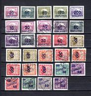 Checoslovaquia   1922-26  .-  Y&T  Nº    15/19-20-21/22-24/25-27/28-29/30-31/32-34/40-41/46     Taxa - Timbres-taxe
