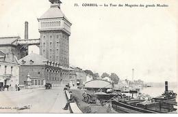 Les Bords De La Seine     91   Corbeil Essonnes     La Tour Des Magasins Des Grands Moulins - Corbeil Essonnes