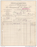 13 MARSEILLE  FACTURE 1920  Spécialité De SAVONS BLANCS Succ. De D. LECA & Cie - B28 - 1900 – 1949