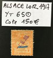 ALSACE SOCIAUX YT 65 - 13 Semaines - CV 150€ - TRES RARE - Fiscale Zegels