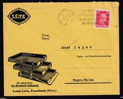 DR. Reklame-Brief, Ivo-Briefkorb-Aufbauten, Louis Leitz, Feuerbach - Unclassified