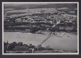 Ansichtskarte Bahnpost Fliegeraufnahme Germersheim Rheinland Pfalz Rhein Mit  - Deutschland