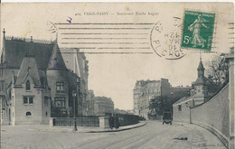 Carte Postale Ancienne De Paris Passy Boulevard Emile Augier - Paris (16)