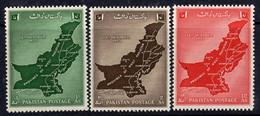 Pakistan 1955 West Pakistan Unity Set Of 3, MNH, SG 79/81 (E) - Pakistan