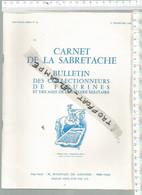 PR /  CARNET DE LA SABRETACHE 3 Em TRIMESTRE 1986 @@ COLECTIONNEURS FIGURINES - France