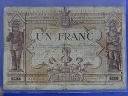 Billet De 1F FRANC Série A Chambre De Commerce De POITIERS (Vienne) Charles Martel Joffre - Camera Di Commercio