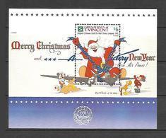 Disney St Vincent Gr 1991 Christmas Card #1 MS MNH - Disney
