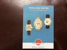 CATALOGUE CRÉDIT MUNICIPAL DE PARIS Ventes Aux Enchères MONTRES-BRACELETS Rolex Bulgari Breitling Chaumet Patek Chanel.. - Orologi Antichi