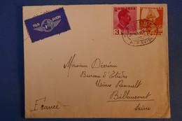 F1 ROUMANIE  BELLE LETTRE  1937 PAR AVION  BUCAREST POUR BILLANCOURT FRANCE + AFFRANCHISSEMENT PLAISANT - 1918-1948 Ferdinand, Charles II & Michael