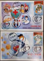 Vietnam Viet Nam Maxi Maxicards With Imerf Stamps & Ha Noi Cancel 2020 : ANTI COVID-19 / CORONA VIRUS (Ms1121) - Vietnam