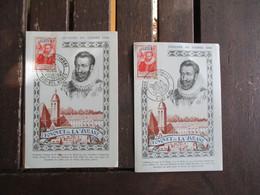 1946 Lot Ce 2 Cm Carte Maximum Sidi Bel Abbes Et Ager Fouquet De La Varanne - 1940-49