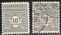 FRANCE : N° 621 ** Et Oblitéré (Arc De Triomphe) - PRIX FIXE - - 1944-45 Arc Of Triomphe