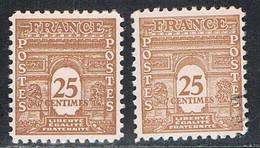 FRANCE : N° 622 ** Et Oblitéré (Arc De Triomphe De L'Etoile) - PRIX FIXE - - 1944-45 Arc Of Triomphe