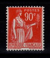 Signé Calvès - YV 285 N** Parfaitement Centré Type Paix Cote 75+ Euros - 1906-38 Sower - Cameo