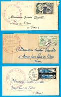 (Lot De 3) 1954 - Bande De Journal Avec Cachet HERD-BOOK De La Race Brune Des Alpes - Covers & Documents