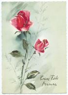 9584 - Fête Des Mères - Bonne Fête Maman - 2 Roses Rouges - Ed Coloprint B Special - CPSM Non écrite -Scan Recto-verso - Moederdag