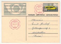Suisse // Schweiz // Entier Postaux //  Entier Postal  Et Cachet BPA  Genève, Exposition Philatélique Nationale 1943 - Ganzsachen