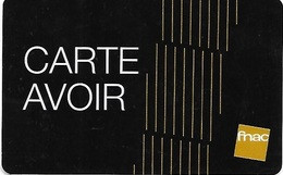 @+ Carte Avoir FNAC - Frankreich