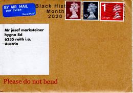 Auslands -Brief Von CR( 4HB London Mit MIschfrankatur Königin Elisabeth Und Werbestempel Black History Month 2020 - 1952-.... (Elizabeth II)