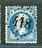 Rare N° 22 Oblitéré Cachet GC 418 ( Belabre - Indre ) - 1849-1876: Klassik