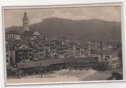 """Ansichtskarte Thun - """"Die Untern Schleusen"""" Abgestempelt THUN 1908 - BE Berne"""