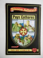 """Région OCCITANIE Pays Cathares """" Montségur, Lastours, Quéribus .. Armoiries Blason Adhésif Villes Et Provinces De FRANCE - Unclassified"""