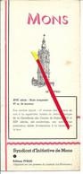 MONS 1938 Dépliant Touristique Syndicat D'initiative (4 Volets) - Ducasse De Mons - Brasserie / Bières FERDE - - Toeristische Brochures