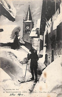 05 - Montgenèvre - L'Hiver - Une Rue Du Village (animée, Fournier 1917) - Altri Comuni