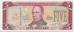 LIBERIA=2003    5  DOLLARS    P-26    UNC - Liberia