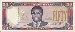 LIBERIA=2004    50  DOLLARS    P-29    UNC - Liberia