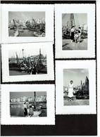 5 Photos 11,5 X 8,5 Cm - Blankenberghe - Port - Bateaux De Pêche - Voir Scan - Boten