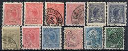 Lote 12 Sellos BRASIL Antiguos 1893-1918, Republica, º - Brésil