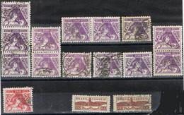 Lote 16 Sellos BRASIL Antiguos 1933, Foi I Energie Y Sobretaxe Aviation, Num 260-261 Y 262 º - Brésil