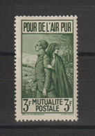 France 1938-43 Timbre De Bienfaisance PTT 21 ** MNH - Erinofilia