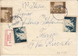 Croatia WWII Hrvatska NDH Censored Cover To Italy, Zagreb Censor Mark CENZURA Br 4 - Croatia
