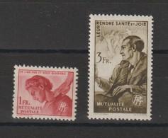 France 1944 Timbre De Bienfaisance PTT 30-31 2 Val ** MNH - Erinofilia