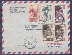 Polynesie Lettre #351 - 1956 Papeete En Canadie - Covers & Documents