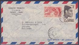 Polynesie Lettre #303 - 1954 Papeete En Hollande - Covers & Documents