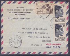 Polynesie Lettre #233 - 1957 Papeete En France - Covers & Documents