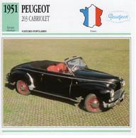 Peugeot 203 Cabriolet   -  1951  -  Fiche Technique Automobile (Francaise) - PKW