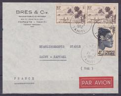 Polynesie Lettre #067 - 1952 Papeete En France - Covers & Documents