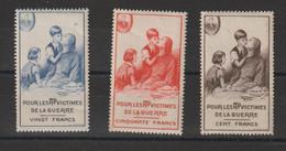 France 1951 Timbre De Bienfaisance PTT 69-71 3 Val ** MNH - Erinofilia