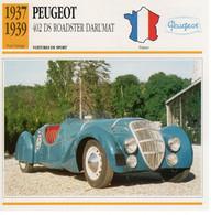 Peugeot 402 DS Darl'mat  Roadster   -  1938  -  Fiche Technique Automobile (Francaise) - PKW