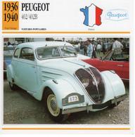 Peugeot 402/402B    -  1938  -  Fiche Technique Automobile (Francaise) - PKW