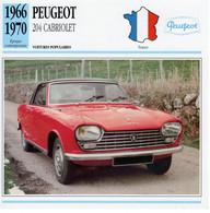 Peugeot 204 Cabriolet    -  1968  -  Fiche Technique Automobile (Francaise) - PKW