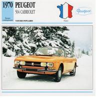 Peugeot 504 Cabriolet    -  1970  -  Fiche Technique Automobile (Francaise) - PKW